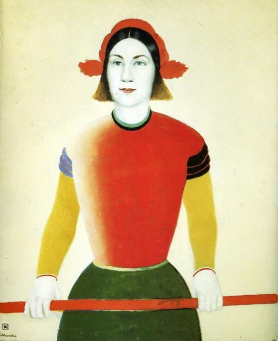 Kazimir Malevich. Girl with Red Flagpole.
