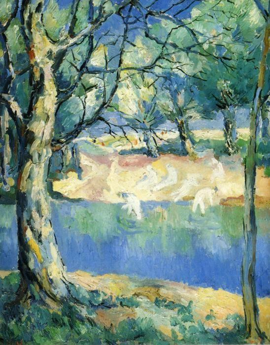Kazimir Malevich. River in Forest.