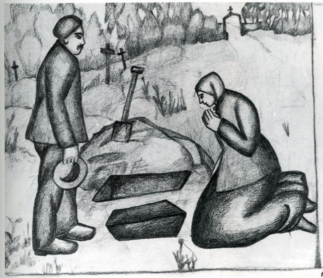 Kazimir Malevich. In the Cemetery.