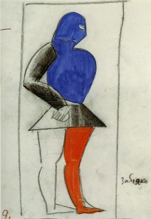 Kazimir Malevich. Brawler. Sketch  of a costume for the opera ""