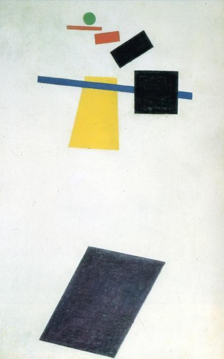 Kazimir Malevich. Suprematism. Soccer Player in the Fourth  Dimension.
