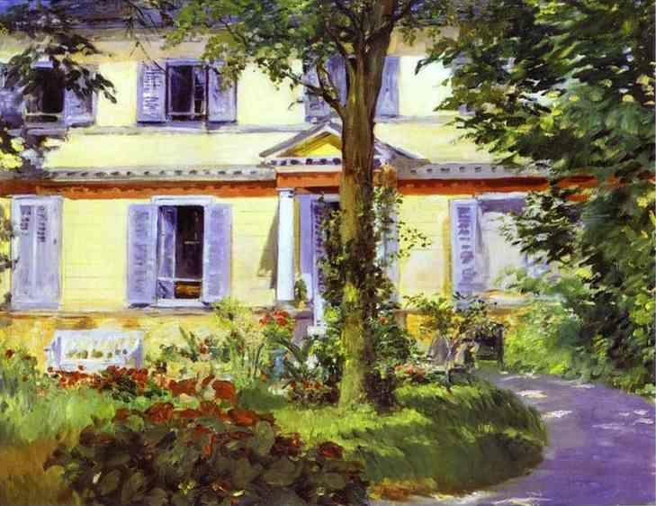 Edouard Manet. House at Rueil.