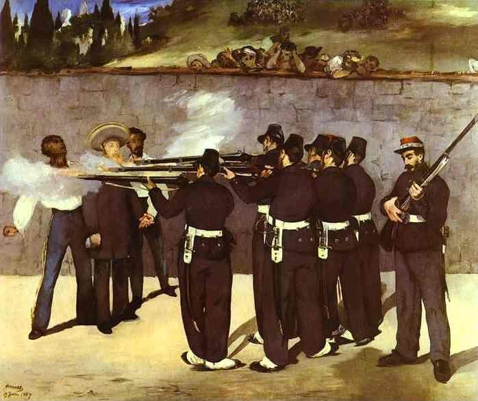 Edouard Manet. The Execution of the Emperor Maximilian of Mexico.