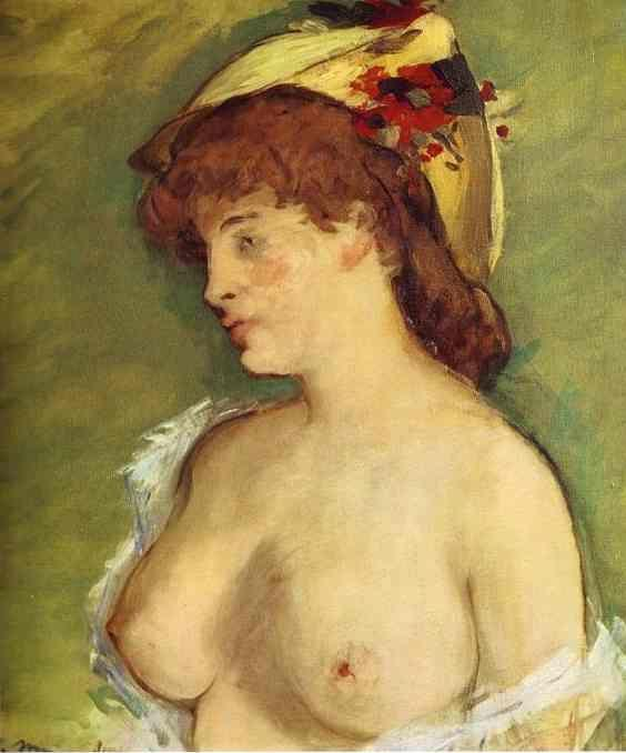 Edouard Manet. Blonde with Bare Breasts.