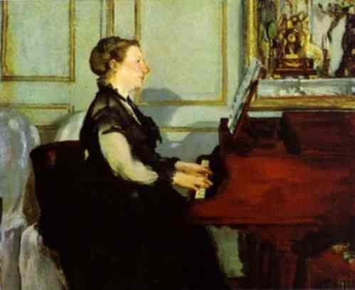 Edouard Manet. Mme. Manet at the Piano.