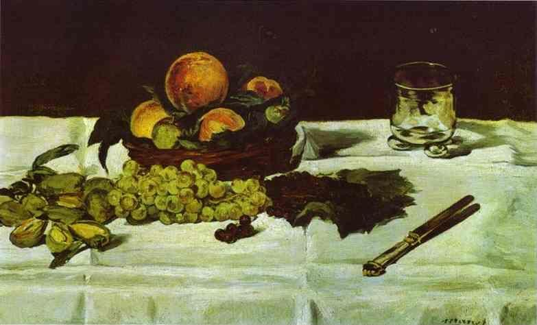 Edouard Manet. Still Life: Fruit on a Table.