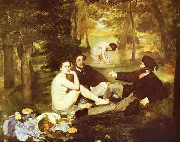 Edouard Manet. The Picnic on the Grass (also: Luncheon on the Grass, French: Le Déjeuner  sur l'Herbe).