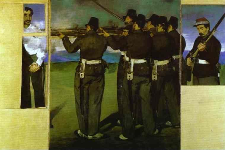 Edouard Manet. The Execution of Emperor Maximilian.