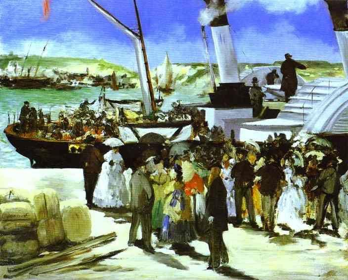 Edouard Manet. The Depature of the Folkestone Boat.