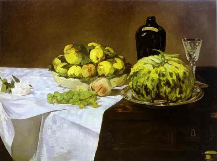 Edouard Manet. Still Life with Melon and  Peaches.