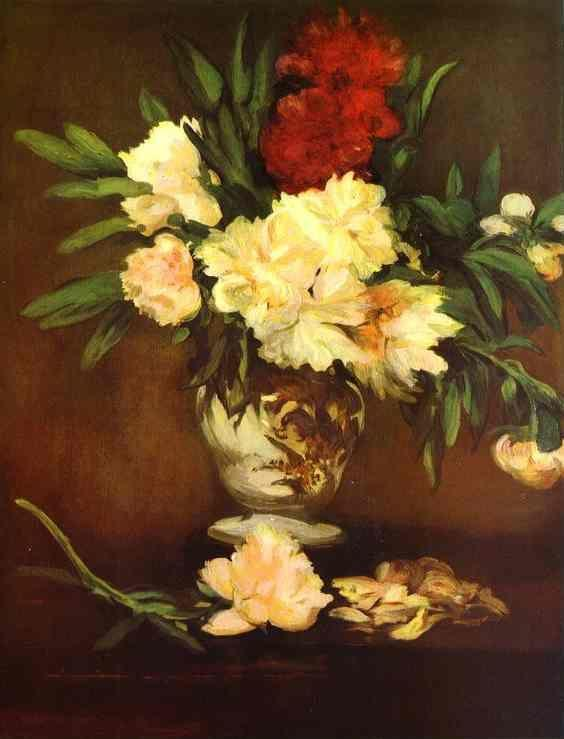 Edouard Manet. Peonies in a Vase.