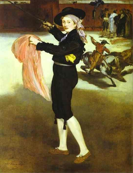 Edouard Manet. Mlle Victorine Meurent in  the Costume of an Espada.
