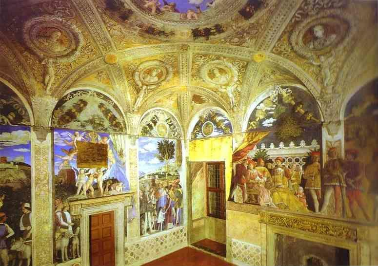 Andrea Mantegna. View of the West and North  Walls.