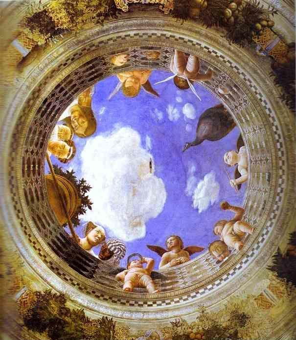 Andrea Mantegna. Roundel with Putti and Ladies Looking Down.