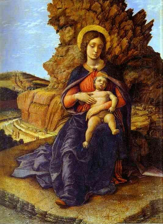 "Andrea Mantegna. Madonna and Child (""Madonna  of the Caves"")."