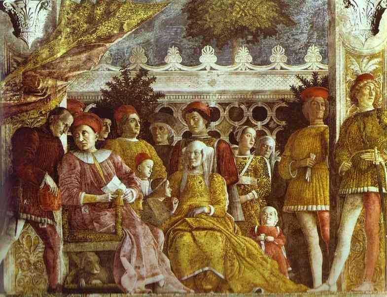 Andrea Mantegna. The Gonzaga Family and Retinue.