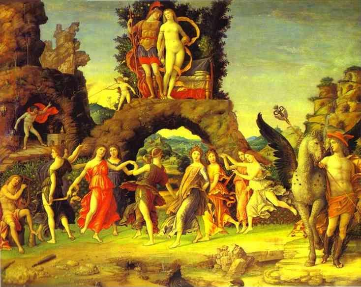 Andrea Mantegna. Mars and Vernus, known as Parnassus.