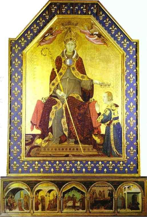 Simone Martini. St. Louis of Toulouse  Crowning Robert of Anjou.