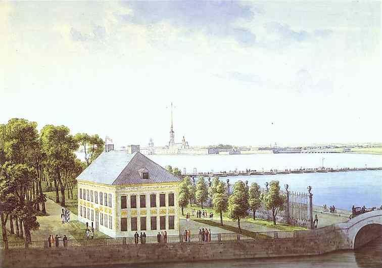 Andrey Martynov. Palace of Peter the Great  in the Summer Gardens in St. Petersburg.