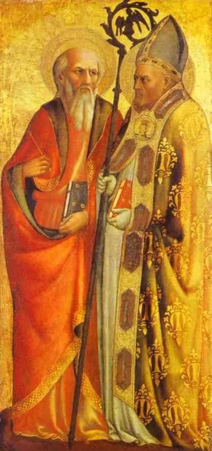 Masolino. St. John the Evangelist and St.  Martin of Tours.