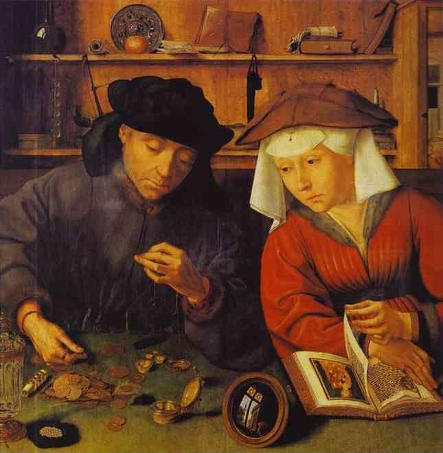 Quentin Massys. The Moneylender and His Wife.