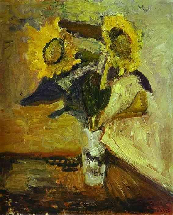 Henri Matisse. Vase of Sunflowers.