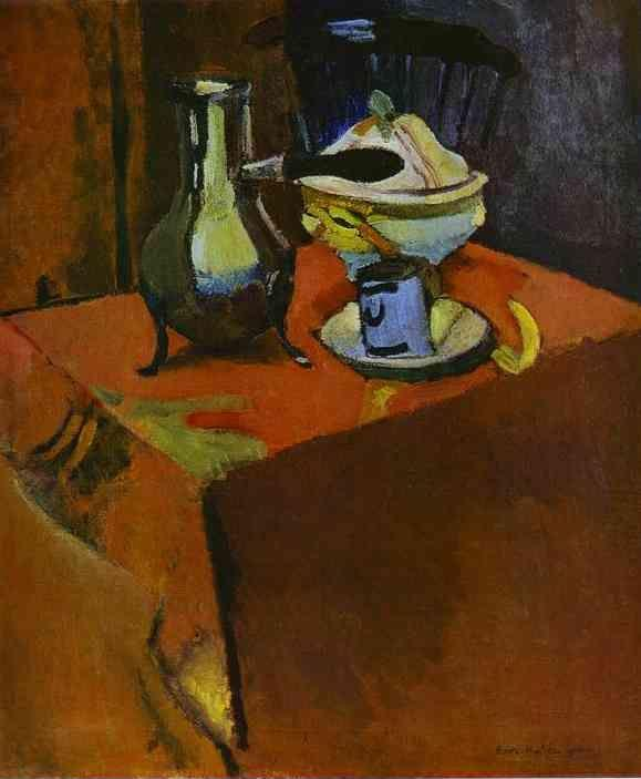 Henri Matisse. Crockery on a Table.