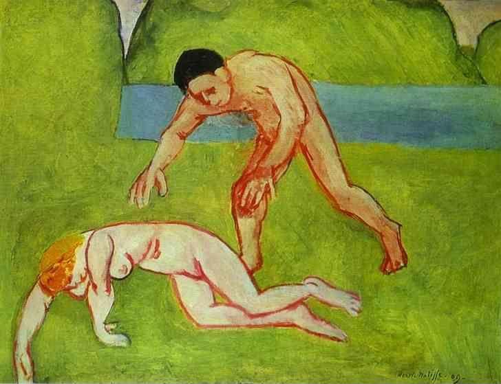 Henri Matisse. Satyr and Nymph.