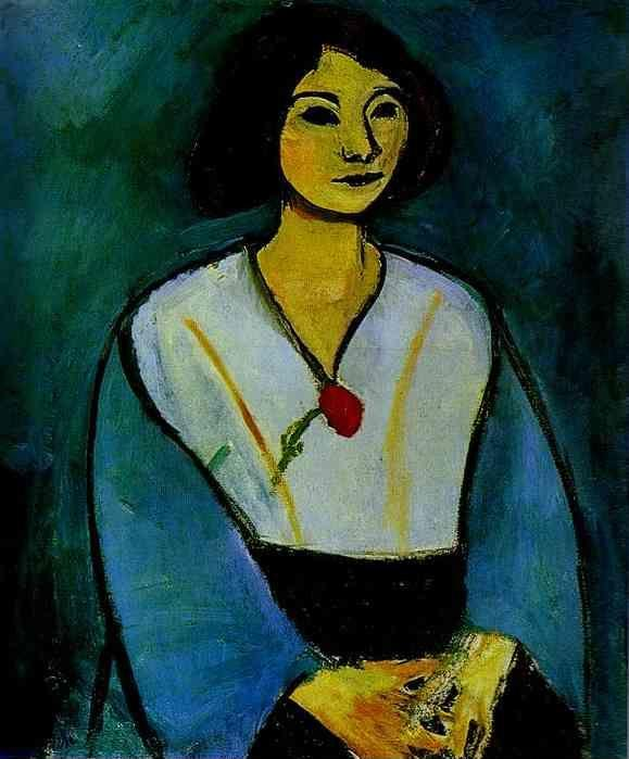Henri Matisse. Woman in Green with a Carnation.