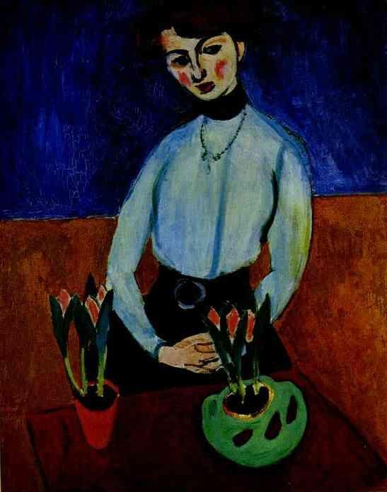 Henri Matisse. Girl with Tulips (Portrait  of Jeanne Vaderin).