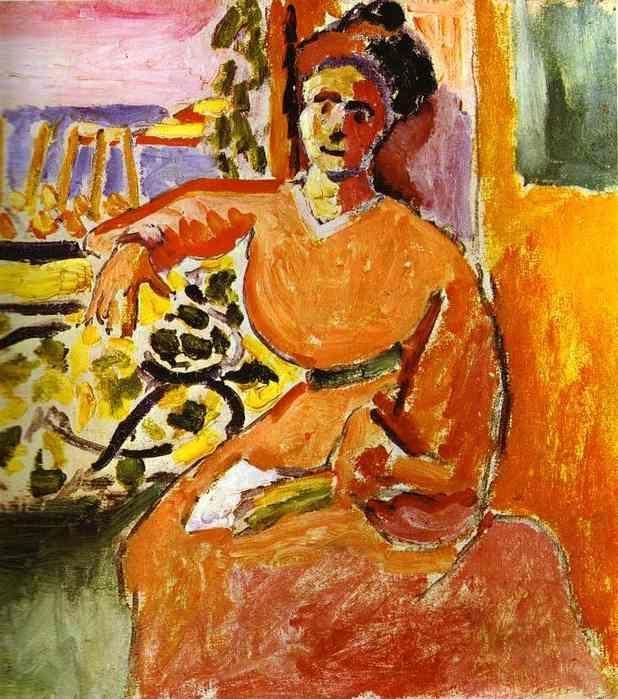 Henri matisse a woman sitting before the window for Henri matisse fenetre