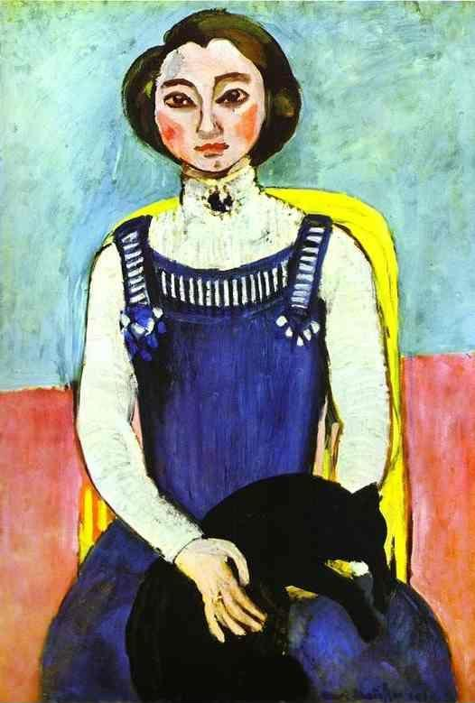 Henri Matisse. Girl with A Black Cat.