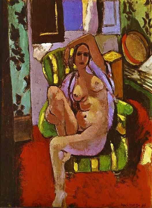 Henri Matisse. Nude Sitting in an Armchair - Olga's Gallery