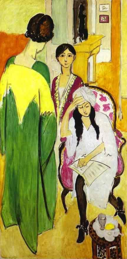 Henri Matisse. Three Sisters. Triptych. Left part.
