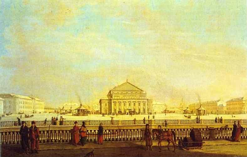 Johann Georg Mayr. The Big Theater in St.  Petersburg.