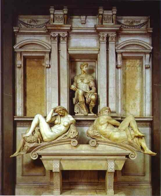 Michelangelo. Tomb of Giuliano de' Medici.