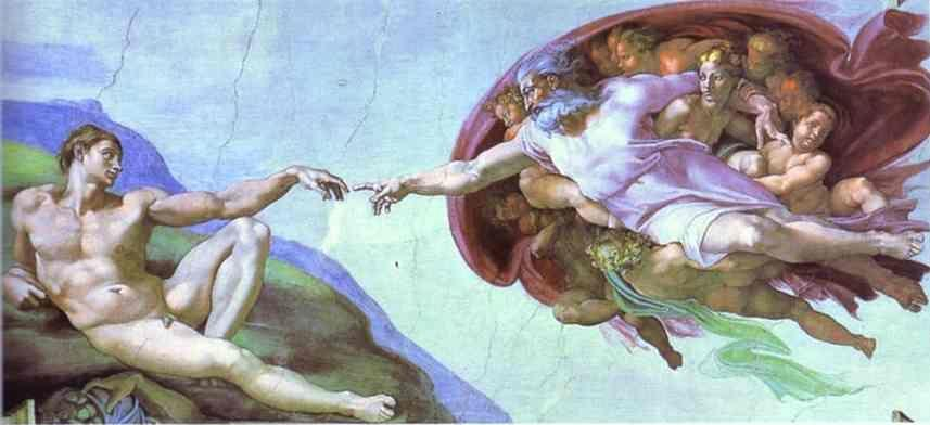 Michelangelo. The Creation of Adam.