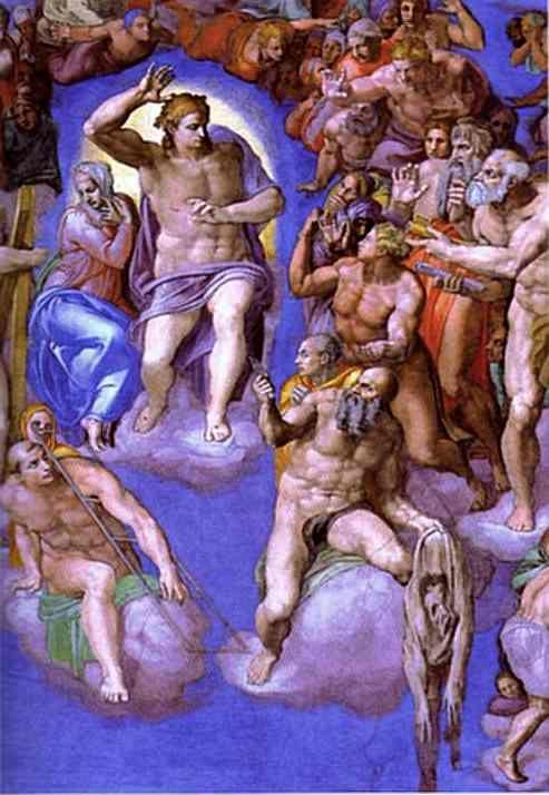 Michelangelo. The Last Judgment . Detail.