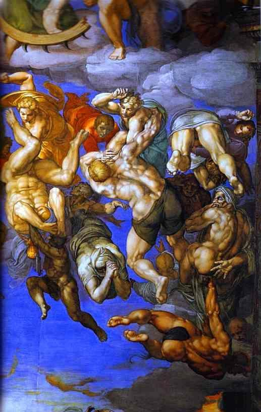 Michelangelo. The Last Judgment. Detail.