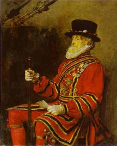 Sir John Everett Millais. A Yeoman  of the Guard.