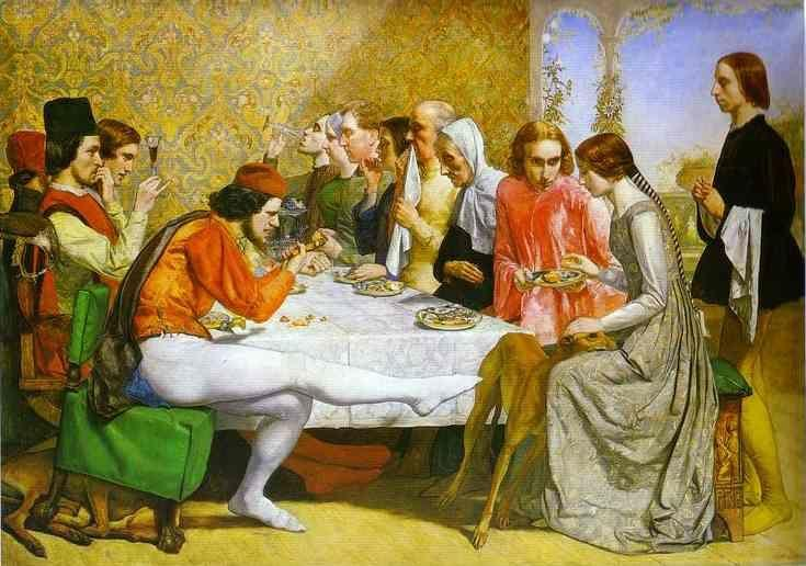 Sir John Everett Millais. Lorenzo  and Isabella.