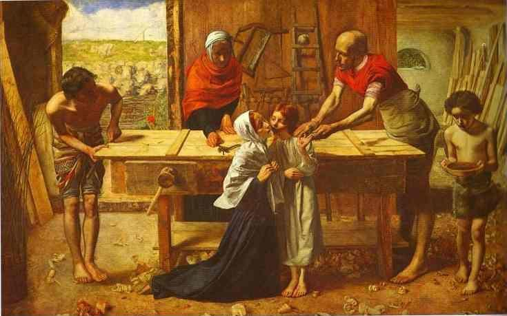 Sir John Everett Millais. Christ in  the House of His Parents.