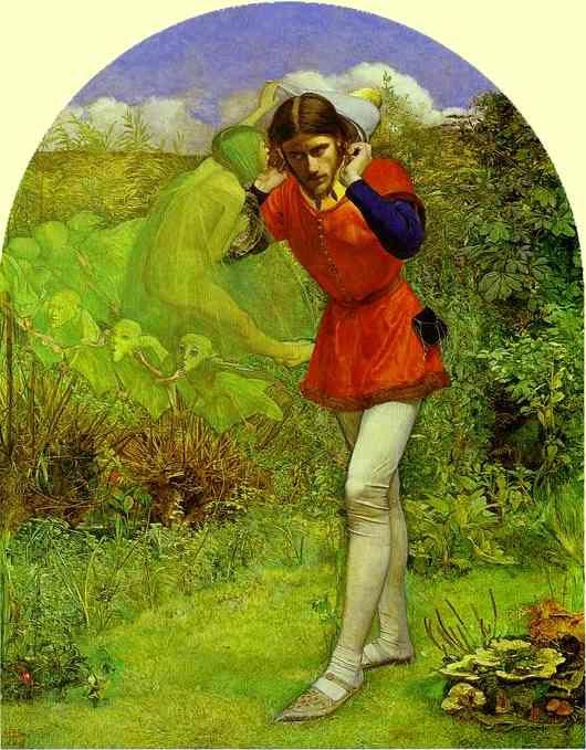 Sir John Everett Millais. Ferdinand  Lured by Ariel.