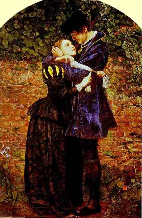 Sir John Everett Millais. A Huguenot,  on St. Bartholomew's Day Refusing to Shield Himself from Danger by Wearing  the Roman Catholic Badge.