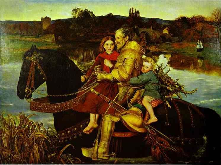 Sir John Everett Millais. A Dream  of the Past; Sir Isumbras at the Ford.