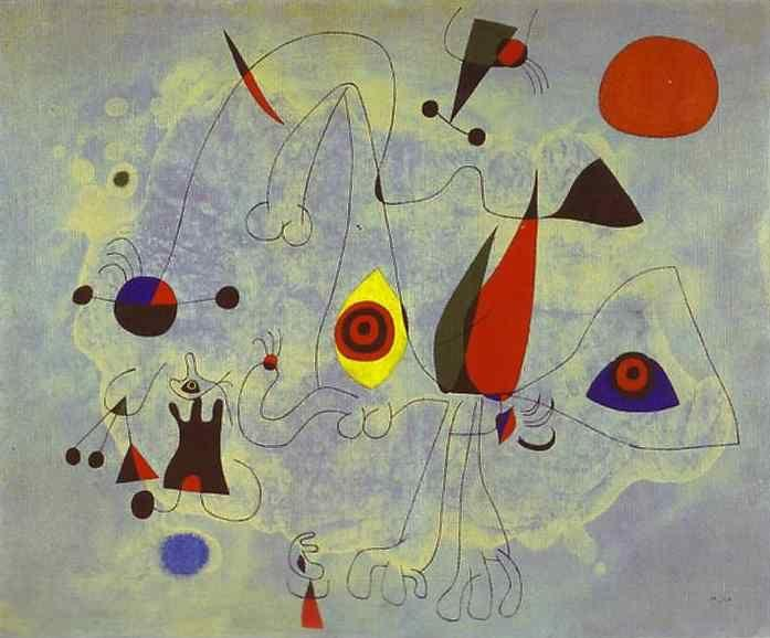 Joan Miró. Women and Birds at Sunrise.