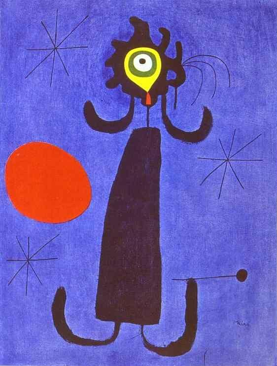 Joan Miró. Woman in Front of the Sun.