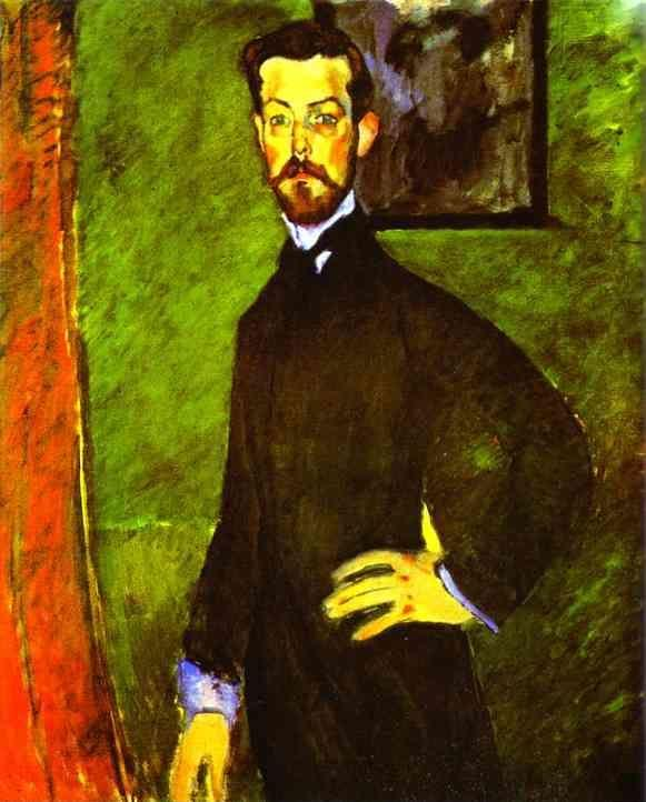 Amedeo Modigliani. Portrait of Paul Alexandre Against a Green Background.
