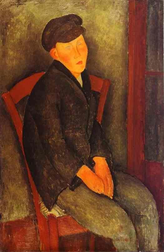 Amedeo Modigliani. Seated Boy with Cap.