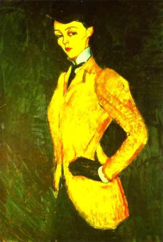 Amedeo Modigliani. Woman in Yellow Jacket  (The Amazon).